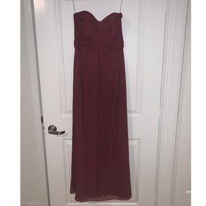 Wine colored Bridesmaids Dress